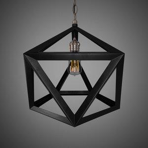 3d lamp loft model