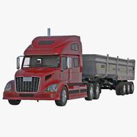 Semi Dump Trailer Truck 2 3D Model