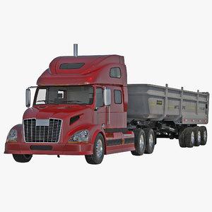 c4d semi dump trailer truck