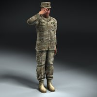 army soldier multicam rigged 3d 3ds