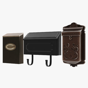 3d 3ds wall mount mailboxes