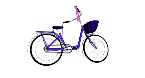 3d model original vintage bicycles