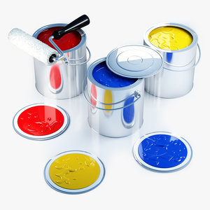 paint cans 3d x