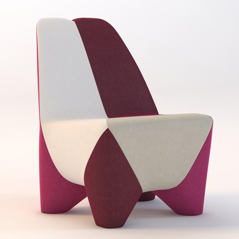 3ds max moroso binta armchair