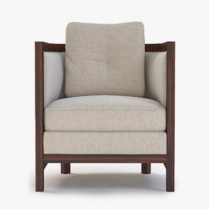 3dsmax domicile curved lounge