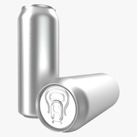 Aluminum Can 0.5 L 3D Model