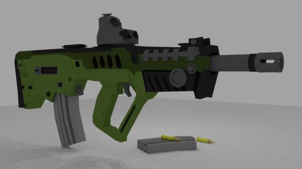 free tar-21 israeli bullpup 3d model