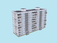 9-storey Soviet Apartment Building