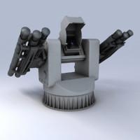 3d model 3m-47 turret naval gibka