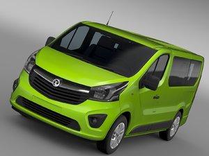 vauxhall vivaro ecoflex 2015 3d model