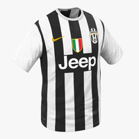 shirt juventus 3d model