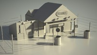 postnuclear house 3d model