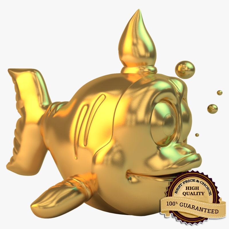 3d golden fish model