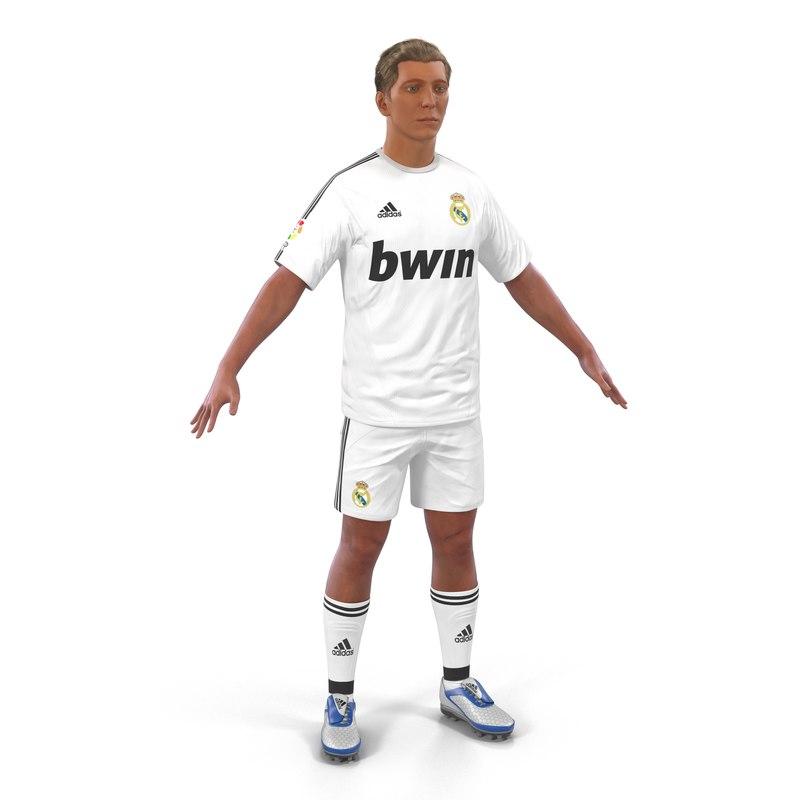 3d soccer player real madrid model