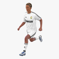 Soccer Player Real Madrid Rigged 3D Model