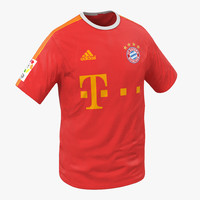 t-shirt bayern modeled 3d 3ds