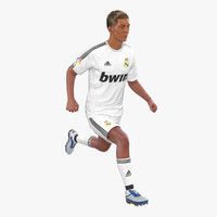 3d soccer player real madrid model