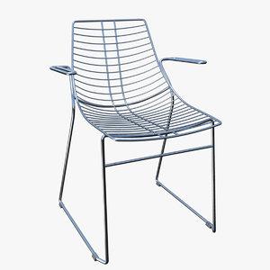 chair armchair metalmobil net 3d obj
