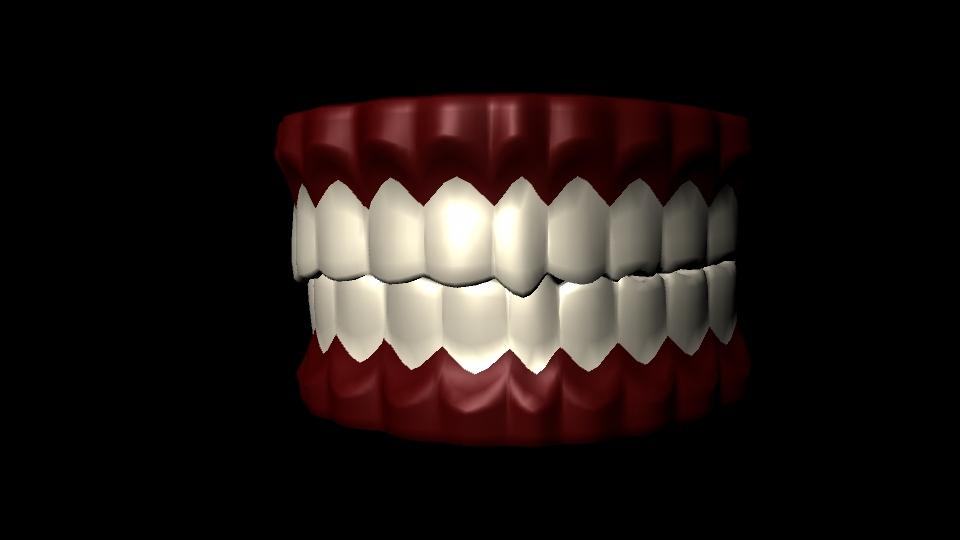 free teeth materials 3d model