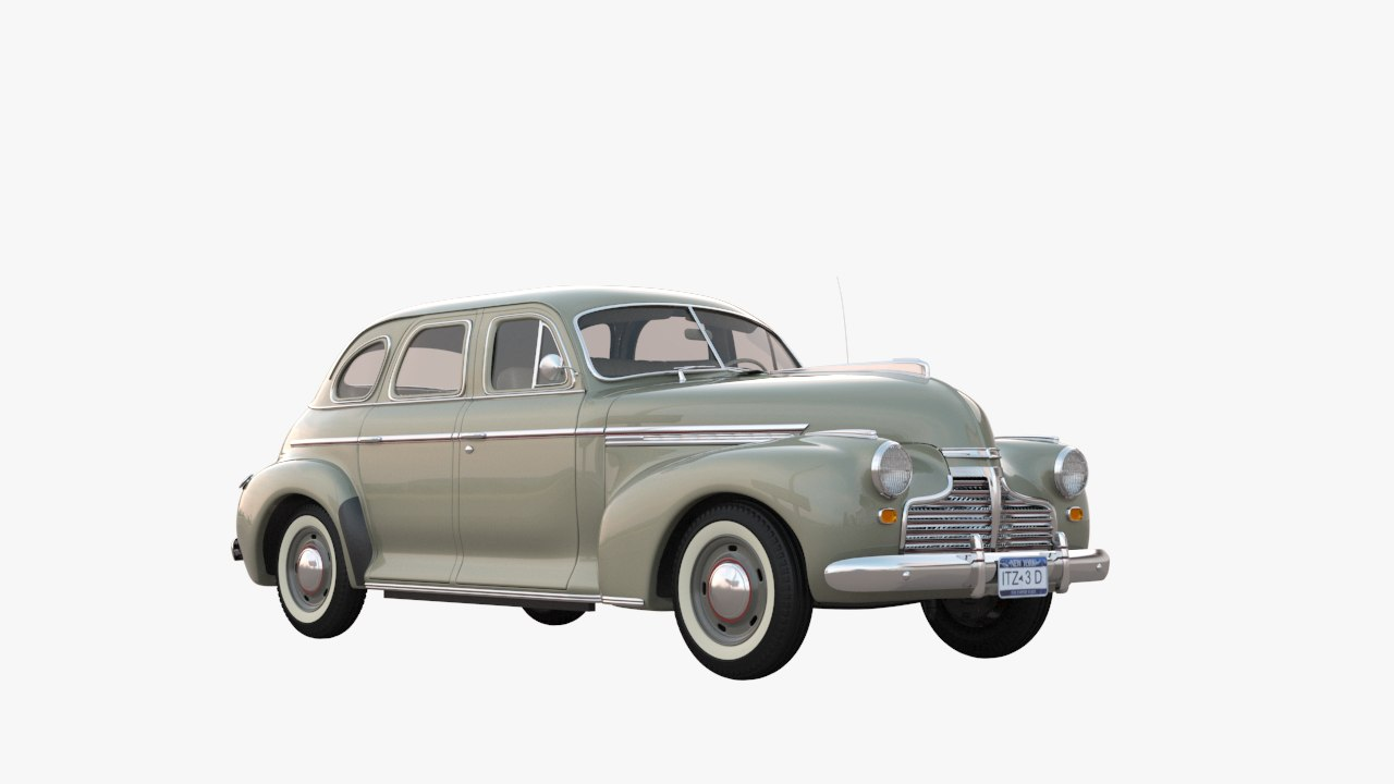 3d model 1941 chevy special deluxe