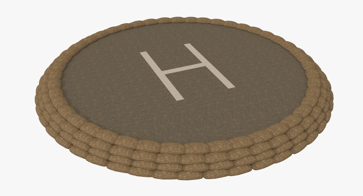 military helipad 3d model