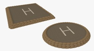 3ds max set military helipads