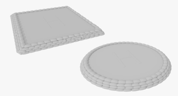 set military helipads 3ds