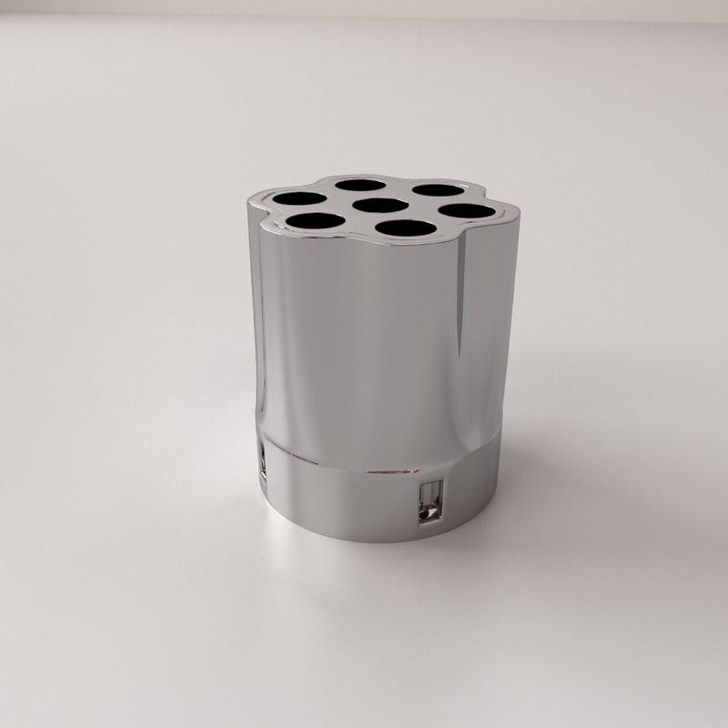 3ds max gun cylinder