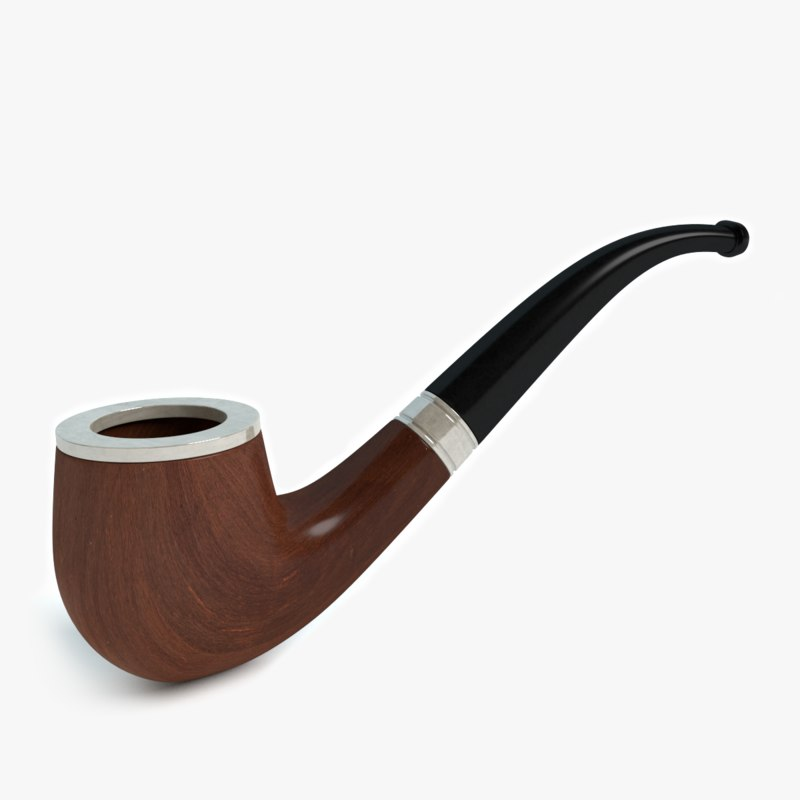 tobacco smoking pipe obj
