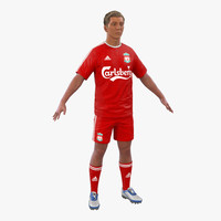 3ds max soccer player liverpool hair