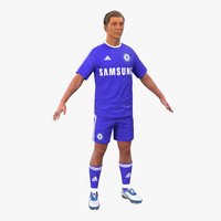 soccer player chelsea hair 3d ma
