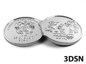 25 rubles 3d model