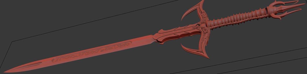 hi sword 3d max
