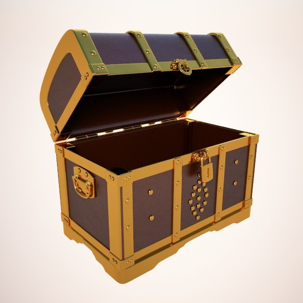 3d crate chest