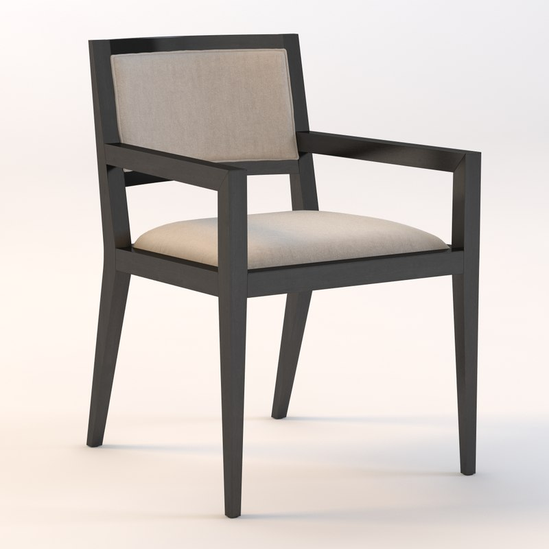 3d model domicile upholstered armchair