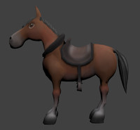 cartoon horse 3d 3ds