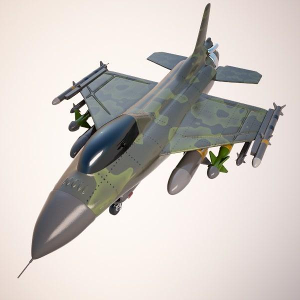 fighter aircraft air 3d model