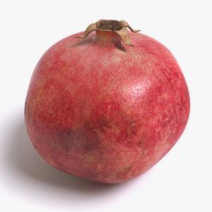 3d realistic pomegranate