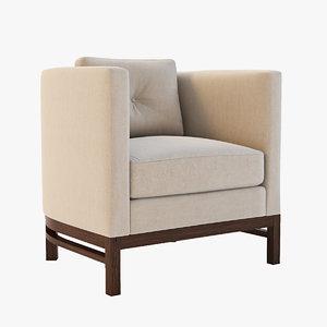 3d model domicile curved lounge