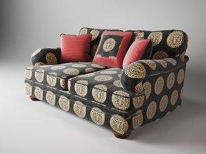 3d model duresta blanchard medium sofa