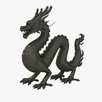Chinese Dragon Statue 1