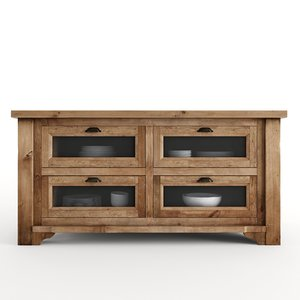 3d model of kitchen island