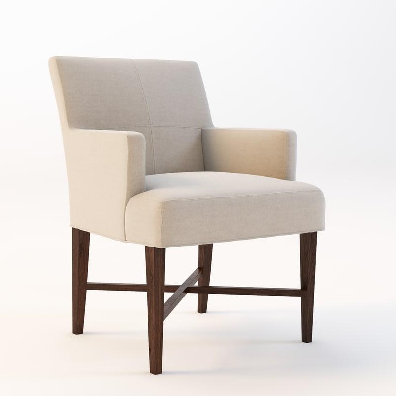 bolier rosenau armchair 3d max
