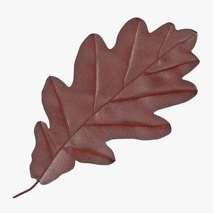oak leaf red 3d model