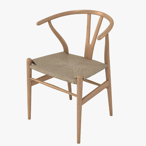 wishbone chair 3d obj