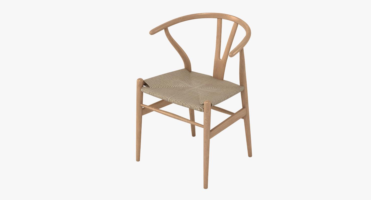wishbone chair 3d obj