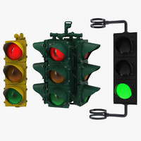 stop lights modeled c4d