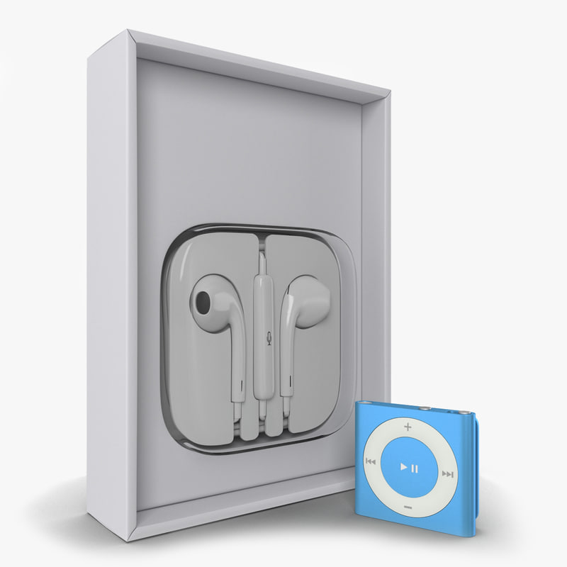 ipod shuffle blue set 3d ma