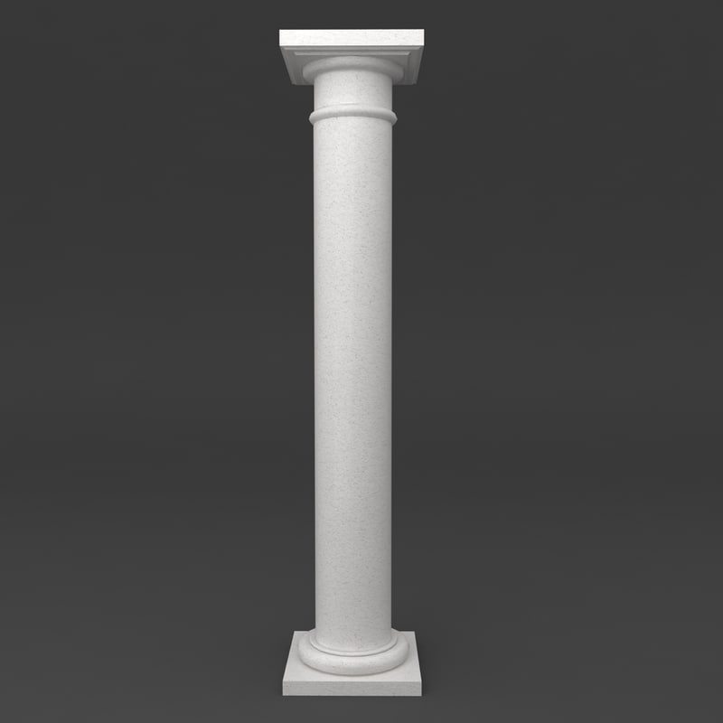 tuscan column printable 3d max