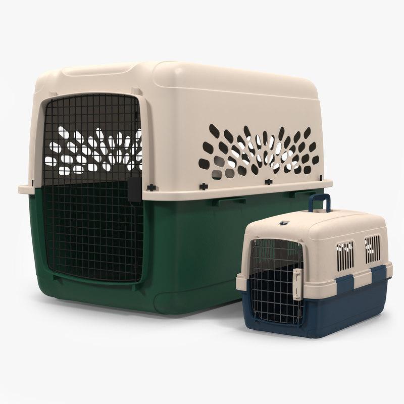 3d pet carriers modeled model